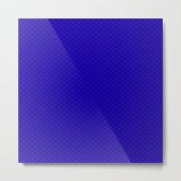 Blue Diamond Pattern Metal Print