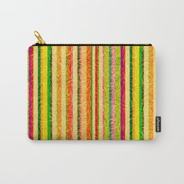 Colorful Stripes and Curls Carry-All Pouch