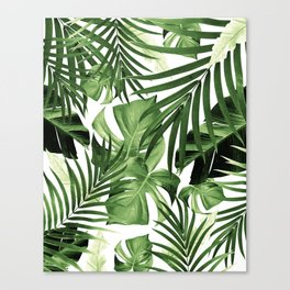 Tropical Jungle Leaves Pattern #12 #tropical #decor #art #society6 Canvas Print
