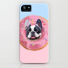 French Bulldog Donut iPhone Case