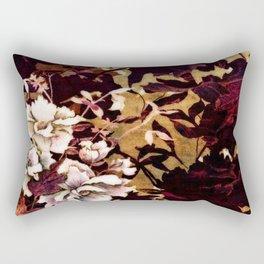 Tropical Blaze Floral Print Rectangular Pillow
