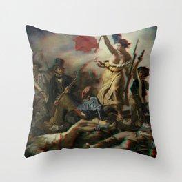 Delacroix - anaglyph conversion Throw Pillow