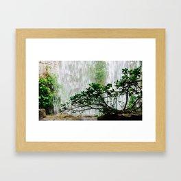 Under the Waterfall Framed Art Print
