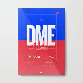 Moscow Airport Code DME Poster Metal Print
