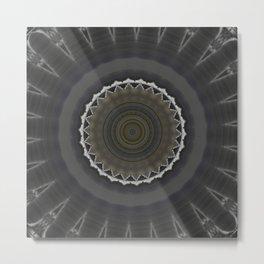 New Frame Oddity Mandala 22 Metal Print