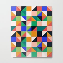Cosmic Grid - by Andrea Lauren Metal Print