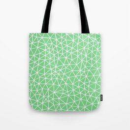 Connectivity - White on Mint Green Tote Bag