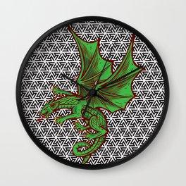 DRAGON MAZE Wall Clock