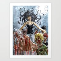 zombies Art Prints featuring ZOMBIES by Maryne.