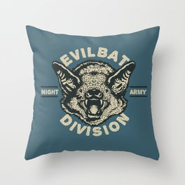 Evil Bat Division Throw Pillow