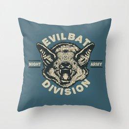 Evil Bat Division Throw Pillow