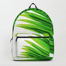 Palm tree leaves watercolor painting #2 Backpack