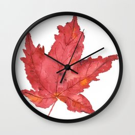 Fall Maple Leaf Wall Clock