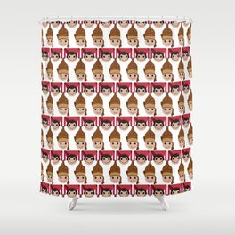 Iconic Headdresses - North Sumatra Shower Curtain