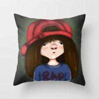 rap Throw Pillows featuring rap by Pınar Bibin