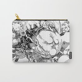 The Wobbly Triangulation Theory - Pen & Ink Illustration Art Carry-All Pouch