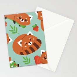 Happy Red Panda Stationery Cards