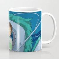 spirited away Mugs featuring Spirited away by Susan Lewis