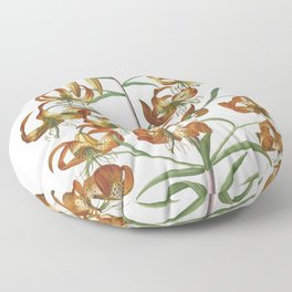Plantae Selectae No 11-Lily by Georg Dionysius Ehret Floor Pillow