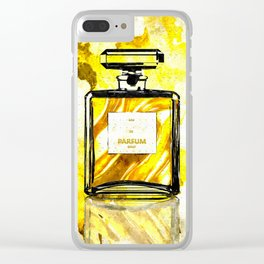 Parfum Gold Clear iPhone Case