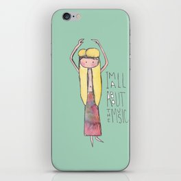 Hippie I'm all about the music iPhone Skin