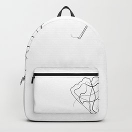 Ginkgo Tree Leaf - One Line Drawing Backpack