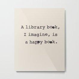 Happy Library Book Metal Print