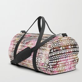 Ethnic pattern. Watercolor texture Duffle Bag