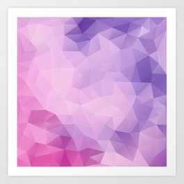 Triangles design in pink and purple colors Art Print