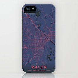Macon, United States - Neon iPhone Case