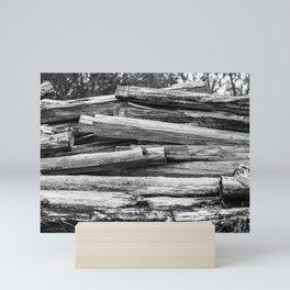 Hand Cut Lumber From Dismantled Log Barn 1 Mini Art Print