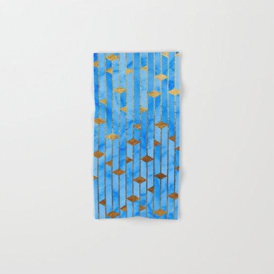 Blue Marble Skyscrapers Hand & Bath Towel