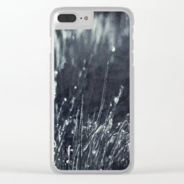 Pearly Dew Drops Clear iPhone Case