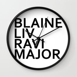 iZombie Major Playas Wall Clock
