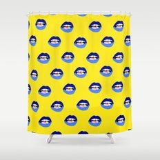 Blue Lips Shower Curtain