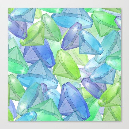 Placer precious stones, yellow , green , blue . Canvas Print