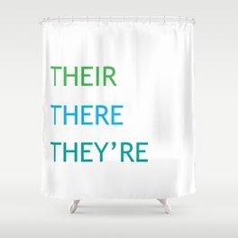 Grammar I Shower Curtain