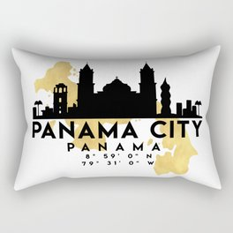PANAMA CITY PANAMA SILHOUETTE SKYLINE MAP ART Rectangular Pillow