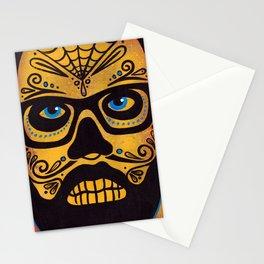 Bearded Sugar Skull Stationery Cards