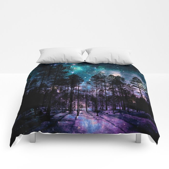 One Magical Night... teal & purple Comforters