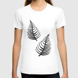 Black Watercolor Leaf T-shirt