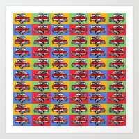 mini cooper Art Prints featuring mini cooper by Pedro Vale