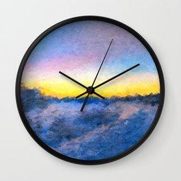 Cold Dawn Wall Clock