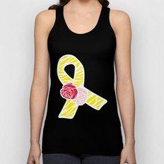 Endometriosis Awareness Ribbon Unisex Tank Top