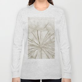 Dandelion Neutral Closeup Long Sleeve T-shirt