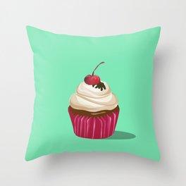 Cupcakes Vintage Throw Pillow