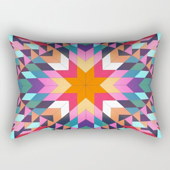 Triangles 2 abstract tribal pattern Rectangular Pillow