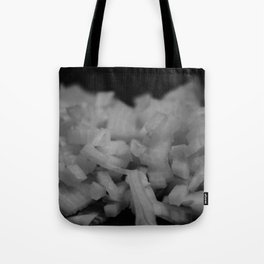 Diced onions Tote Bag