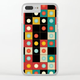 Colors on black Clear iPhone Case
