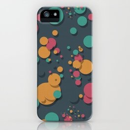 """Retro Colorful Polka Dots"" iPhone Case"